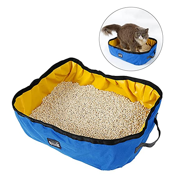 UEETEK Portátil Caja de arena para gatos impermeable plegable Cat ...