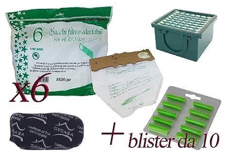 Bolsas de microfibra + ambientadores de pino + Filtro carbón ...