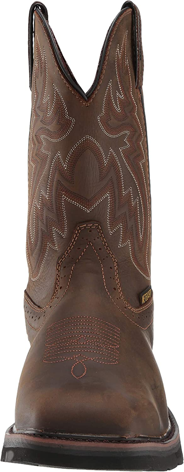 WOLVERINE - Mens Rancher Met Guard Wp Boots Dark Brown