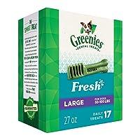 Deals on GREENIES Fresh Natural Dental Dog Treats 27oz Large