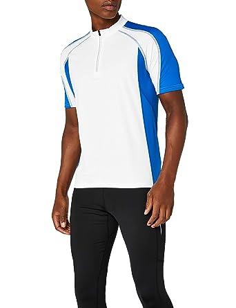 b858bbe8286887 James   Nicholson Herren Kurzarm Bike T-shirt weiß (white royal) Small