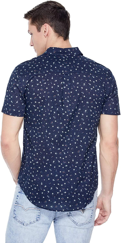 GUESS Factory Mens Isaiah Floral-Print Shirt