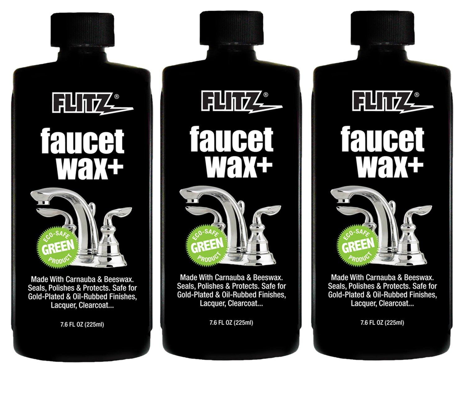 Amazon.com: Flitz PW 02685-6A Faucet Wax Plus, 7.6 oz. Bottle, 6 ...