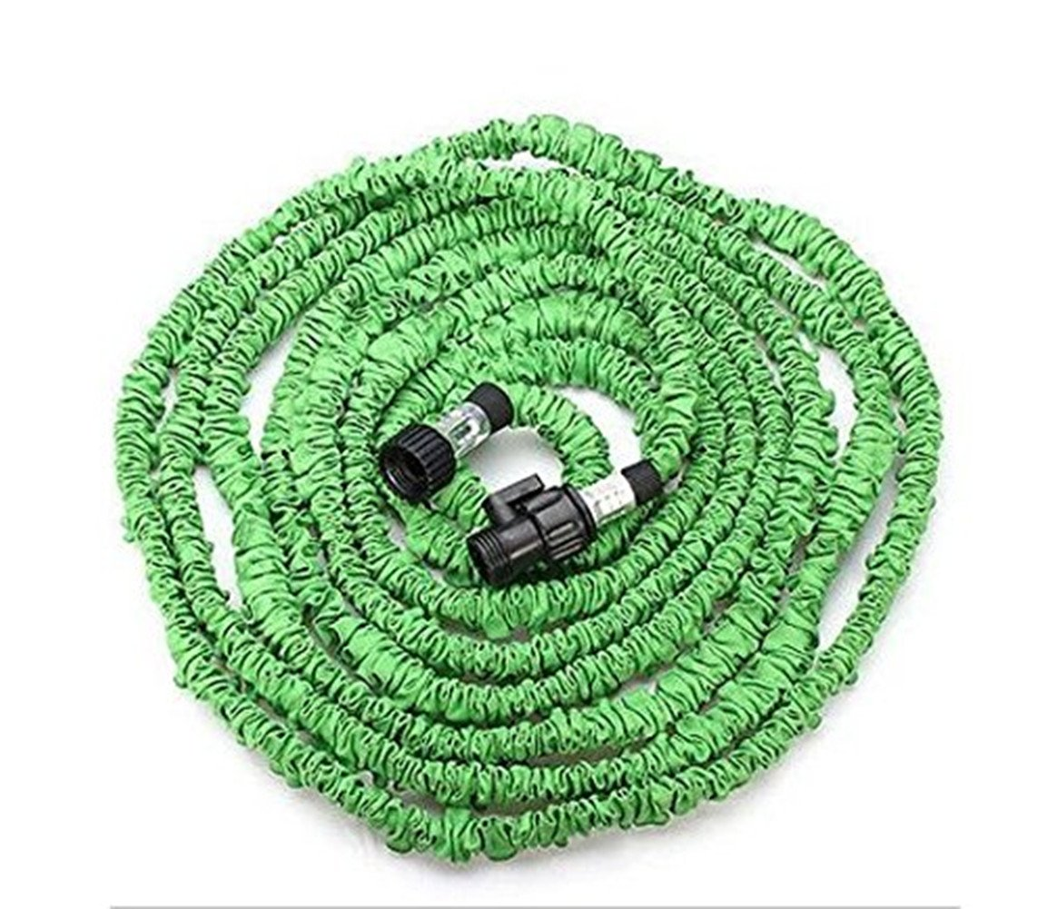 75' Expanding Hose, soled Expandable Garden Hose, Newest Bungee Style Expanding Hose triple Layer Latex Core Extra Strength, Garden Flexible Water Hose Green
