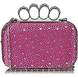 TrendStar Wulstige Clutch Taschen Damen Kasten Diamante Abend Handtaschen Damen Hochzeitsfest Neu Taschen