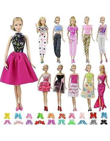 ZITA ELEMENT 20 Piezas Ropa y Zapatos para Muñeca Barbie - 10 Piezas Ropa  para Barbie ffce7737238bd
