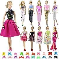 ZITA ELEMENT Ropa Barbie 20 Piezas Ropa y Zapatos Ropa para Barbie- 10 Conjuntos Ropa para Barbie Fashionista Hecha a Mano 10 Pares de Zapatos para 11.5 Pulgadas / 28 - 30cm