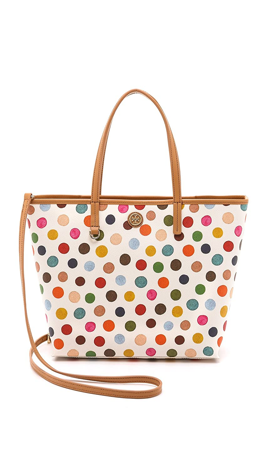 b6757546fd6 Amazon.com  Tory Burch Kerrington Mini Square Tote White Polka Dot Pastel Handbag  New  Shoes