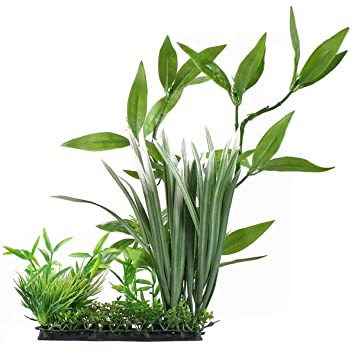 OUNONA Planta Artificial Verde Plantas de Agua para pecera Acuario decoración Adorno decoración plástico Submarino: Amazon.es: Jardín