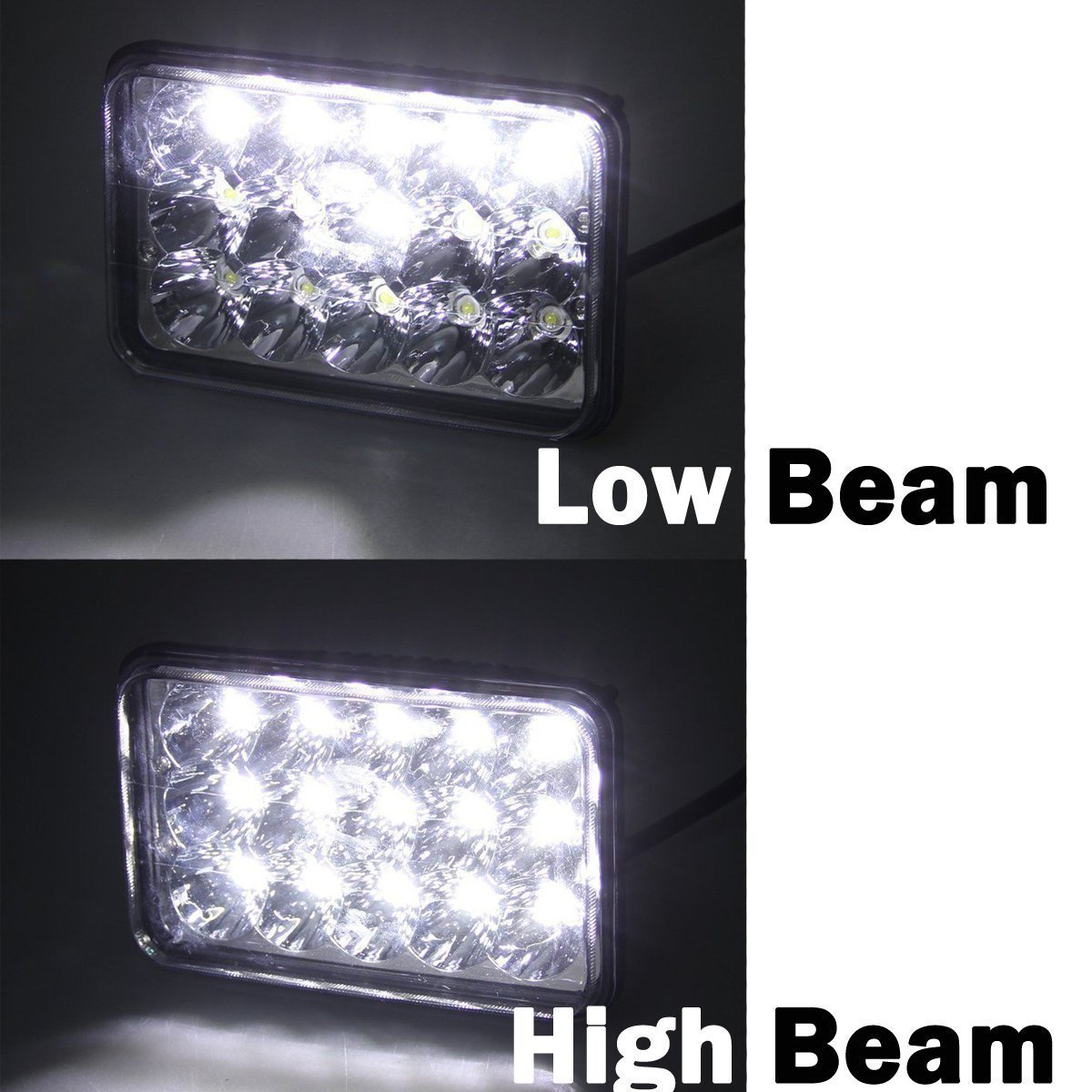 4x6 Led Headlights For Chevrolet Chevy C4500 C5500 1995 Kodiak C8500 Wiring Diagram Rectangular High Low Sealed Beam Bright Lights To Replace H4651 H4652 H4656 H4666