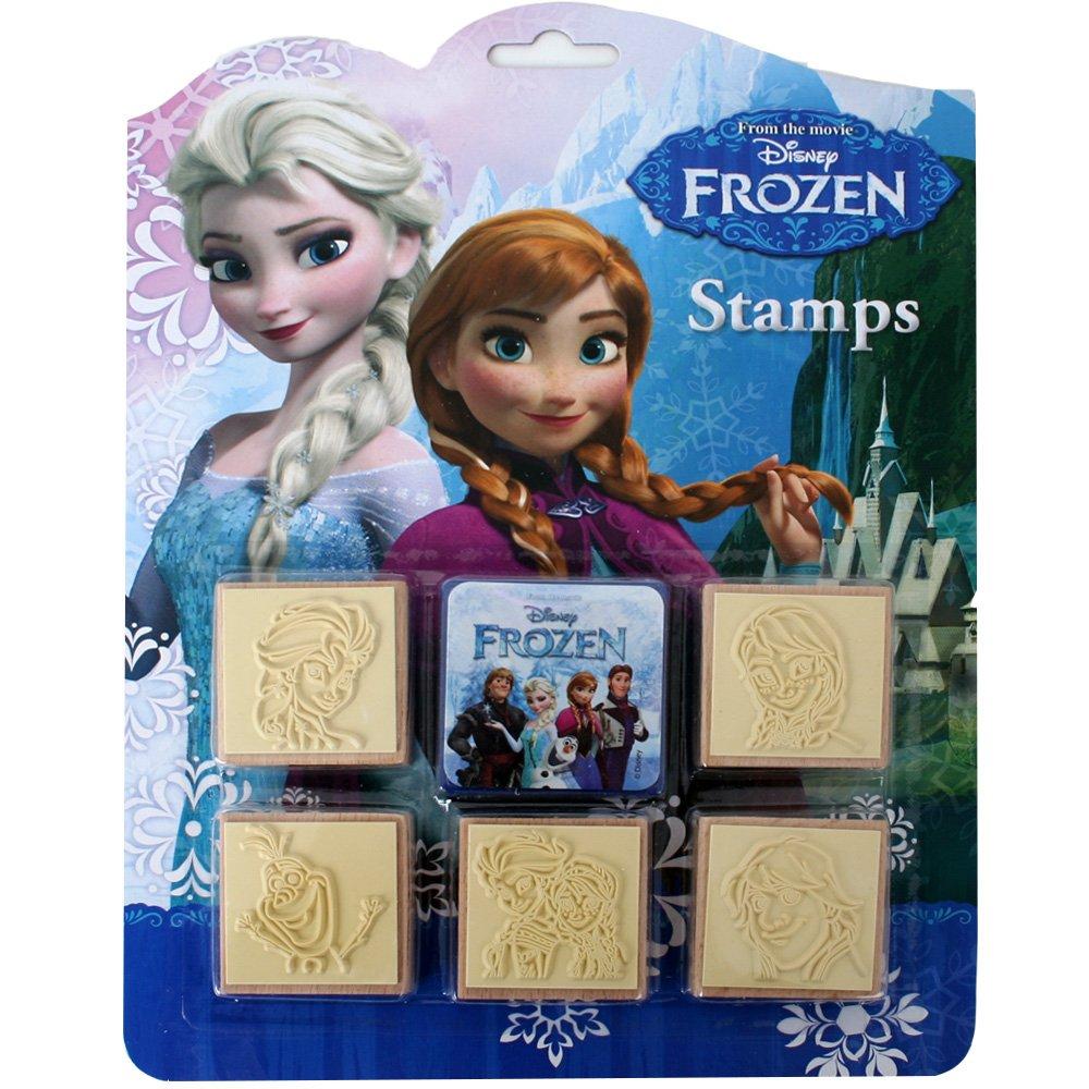Congelado Set De Sellos TE-Trend Frozen Creativa Sets Pintar Pegatinas Gestalten Wandtattoo Sello Cumplea/ños de Ni/ños Regalo