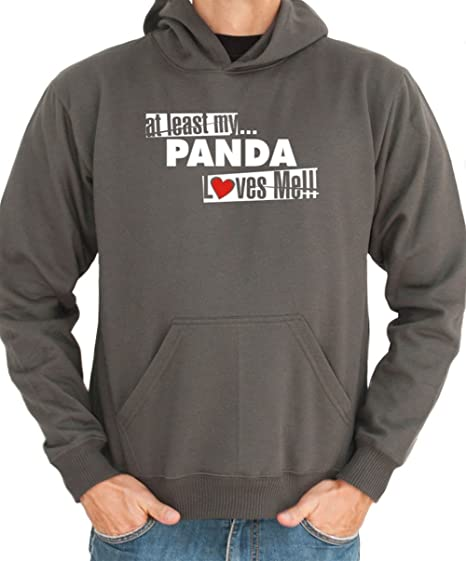 Least Cappuccio Scuro Loves At Panda M Uomo Grigio MeFelpa My Con yvO0m8nwN