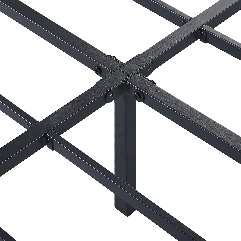 PrimaSleep PR14BX08X 14 Inch Space-Saving,Steel Support Metal Platform Bed Frame Twin-XL Black