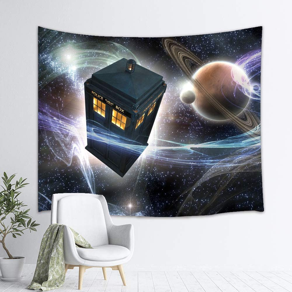 YCLQCTPART Dr Who Tapestry Tardi Wall Hanging Home Decor for Living Room Bedroom Dorm Room 60x50 Inch