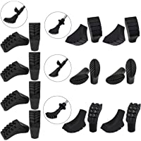 ALPIDEX economy package with 20 pieces / 10 pair Nordic walking pads in 4 different forms rubber tips for tarmac/rock and soft ground