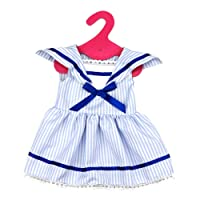 BAOBLADE Fancy Dress Sailors Clothes Fits 18inch American Girl Dolls Dress Blue and White