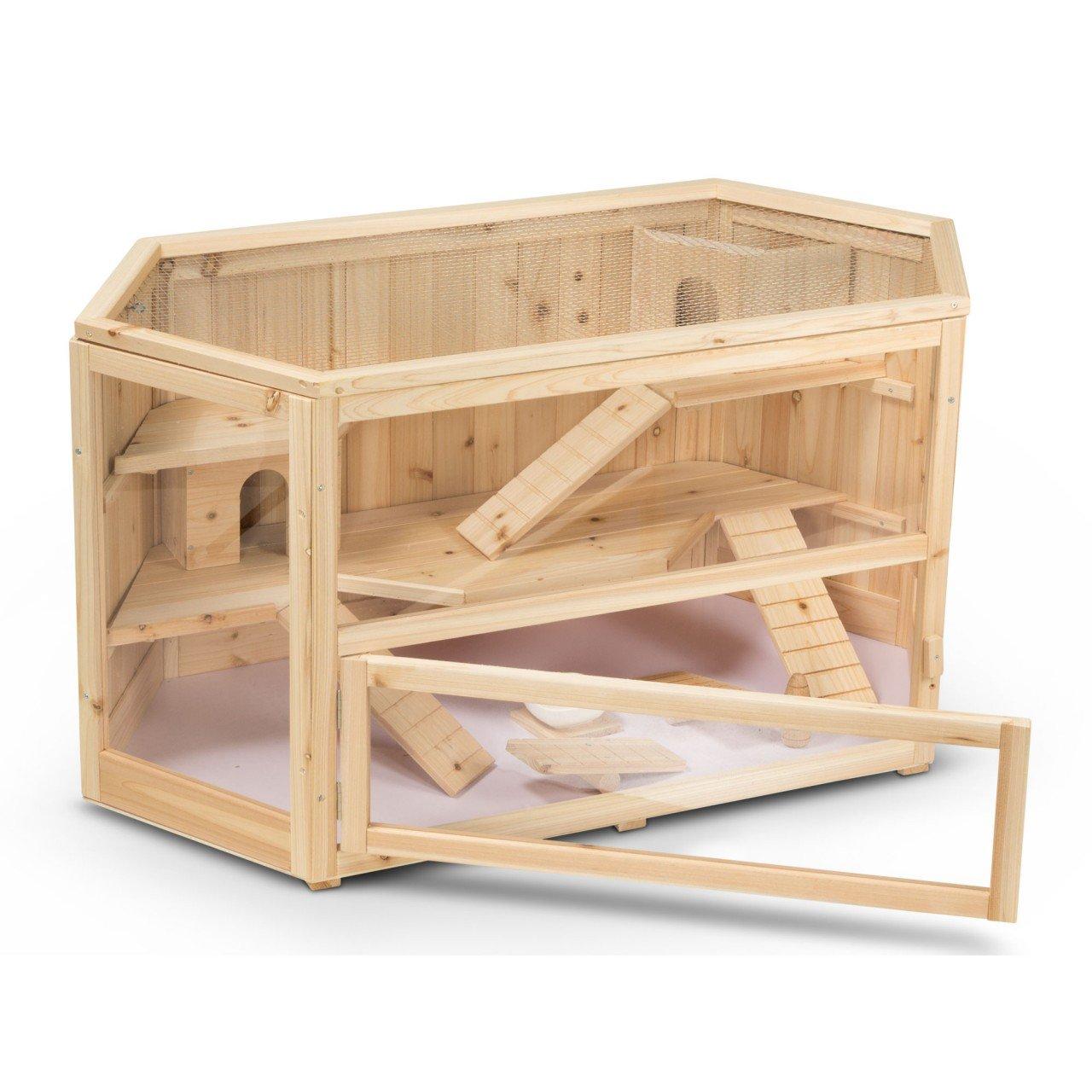 Timbo Gabbia per piccoli animali FANNY in legno 115x60x58 cm, gabbia per porcellini d'India, gabbia per piccoli animali, gabbia per criceti, gabbia per rodenti
