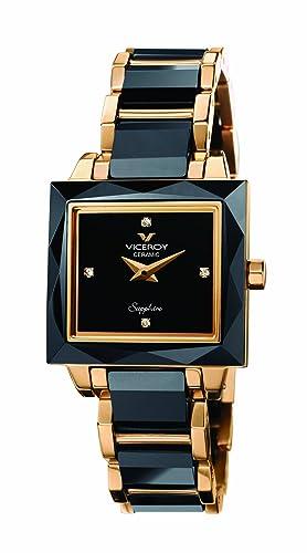 Viceroy 432040-90 - Reloj de Mujer de Cuarzo, Correa de cerámica Color Negro: Amazon.es: Relojes