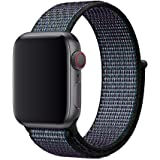 Nylone Strap For Apple watch band 44mm black color