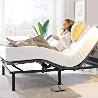 Zinus Jared Adjustable Queen Bed Base with Customizable Leg Height | Wireless Remote | Ergonomic