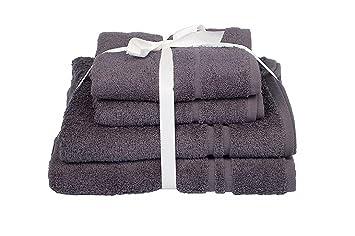 Juego de 4 toallas de ALLURE Fashions Hotel Essentials. Incluye 2 toallas de mano de 50 x 80 cm y 2 toallas de baño de 70 x 120 cm: Amazon.es: Hogar