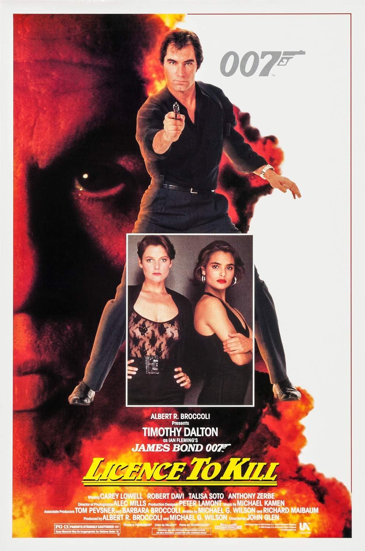 Amazon.com: Licence to Kill James Bond Original Movie Poster Timothy Dalton  Talisa Soto roll: Posters & Prints