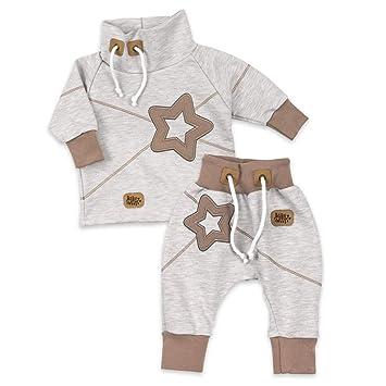 439c445506 Koala Baby Set Hose und Shirt Unisex beige braun | Motiv: Star | Baby Outfit