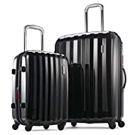 "Samsonite Prism Two-Piece Hardside Spinner Set (20""/28""), Black"