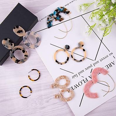 15 Pairs Acrylic Women's Earrings