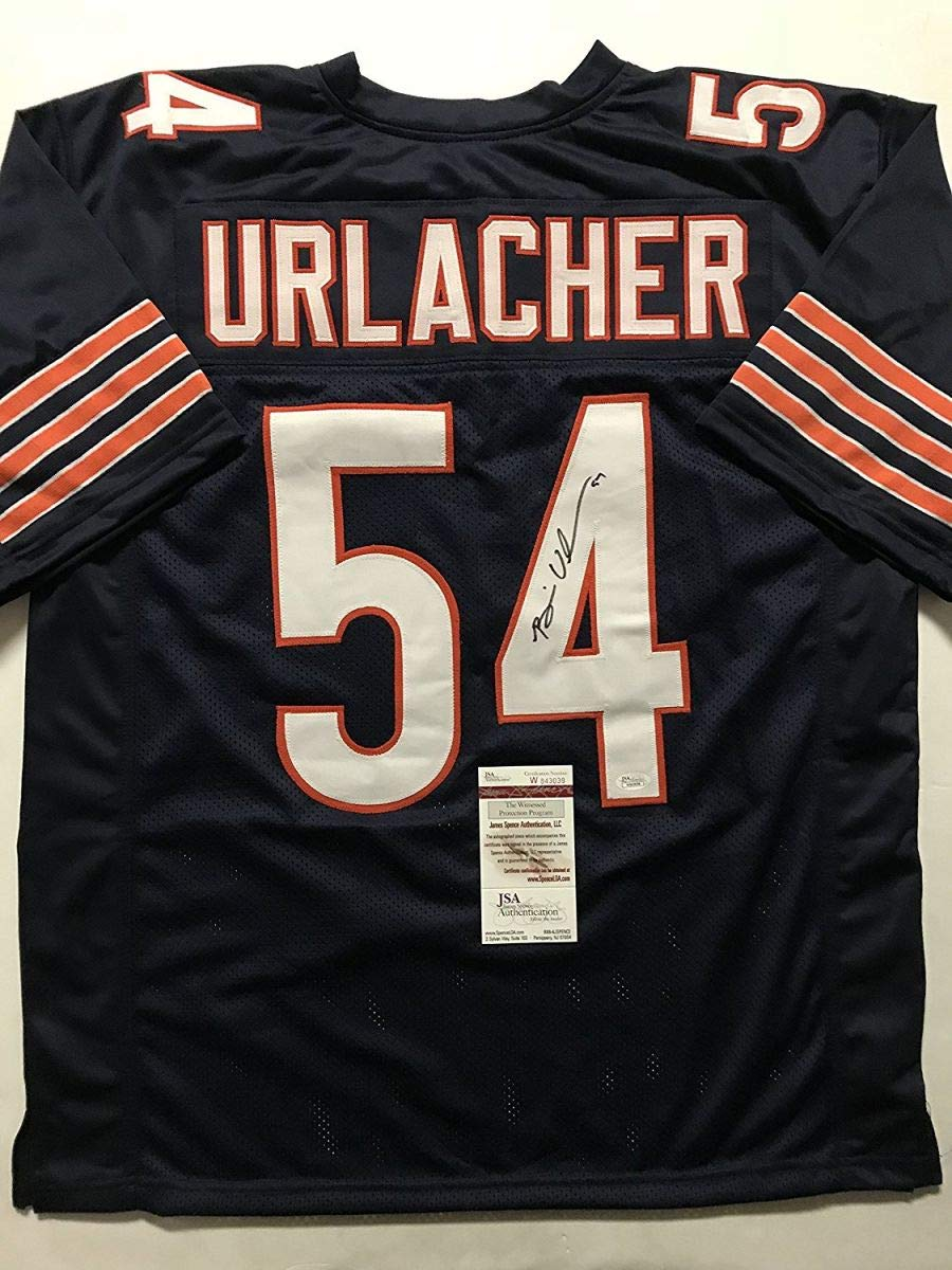 Autographed/Signed Brian Urlacher Chicago Blue Football Jersey JSA COA