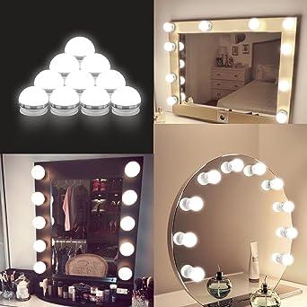 Amazoncom Led Vanity Mirror Lights Kit Auledio Hollywood Style