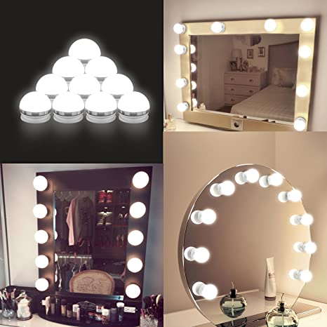 2018 upgraded hollywood style led vanity mirror lights kit auledio 2018 upgraded hollywood style led vanity mirror lights kit auledio makeup light with aloadofball Gallery