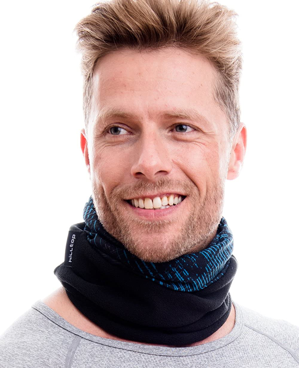 Polar Halstuch f/ür kalte Herbst und Wintertage Schlauchtuch f/ür Damen und Herren Trendige Farben W/ÄRMENDES FLEECE Multifunktionstuch Schal