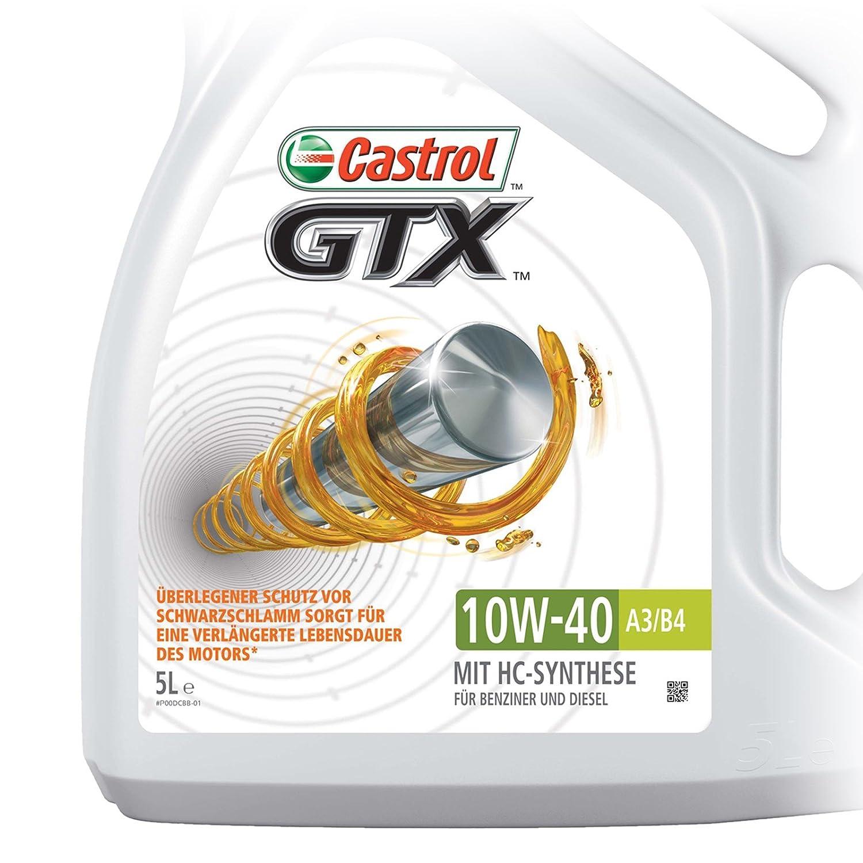 Castrol GTX Aceite de Motores 10W-40 A3/B4 4L (Sello inglés): Castrol: Amazon.es: Coche y moto
