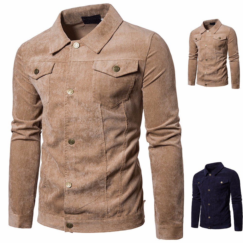SANFASHION Sweatshirts Herren Pullover Langarmshirts s Cord