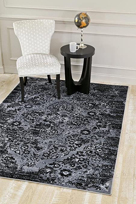 d76d351ac0f Image Unavailable. Image not available for. Color  4620 Distressed Grey  7 10x10 6 Area Rug Carpet Large