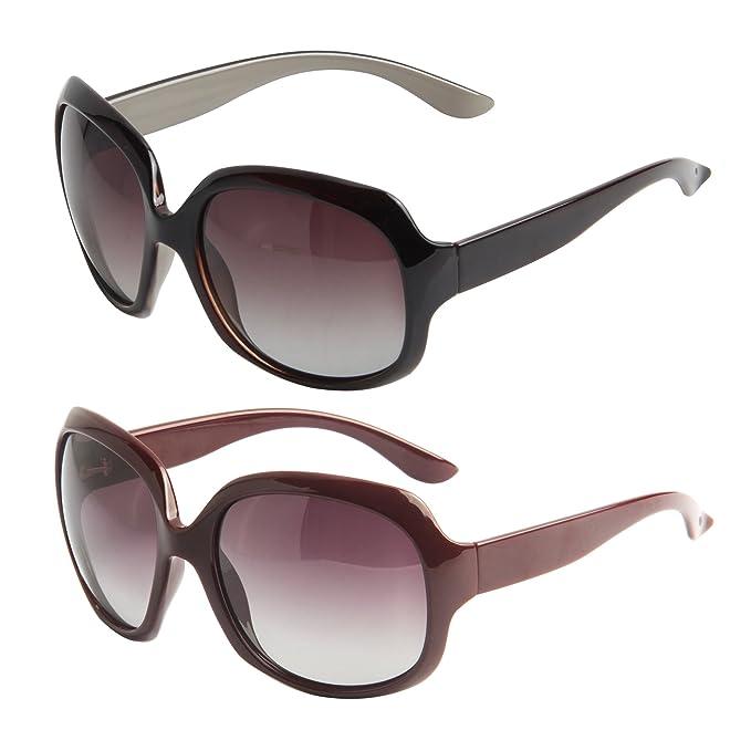 LianSan polarizadas gafas de sol para mujer Retro de gran ...