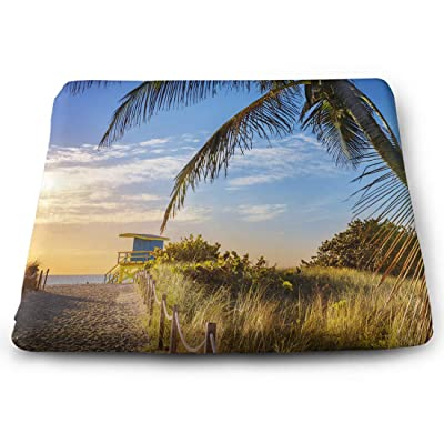 Tinmun Square Cushion, Colorful Lifeguard Tower South Beach Large Pouf Floor Pillow Cushion for Home Decor Garden Party: Home & Kitchen