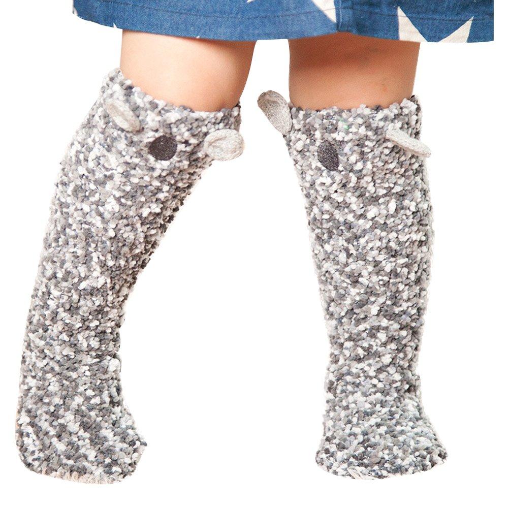 Eastlion Anti-slip Baby Floor Socks Kids Home Cartoon Leg Warmers Ages for 1-3 Years Old