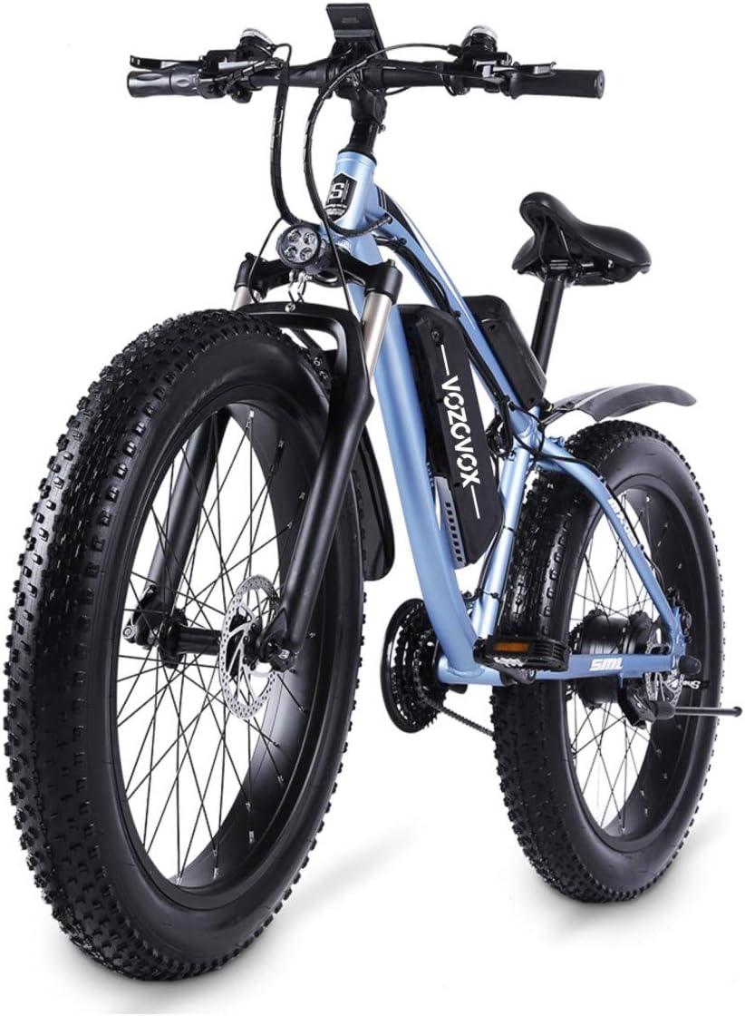 """VOZCVOX 1000W Bicicletas eléctricas, Bicicletas eléctricas de Off-Road Fat 26 """"4.0 Bicicleta eléctrica de montaña, Ebike para Adultos"""