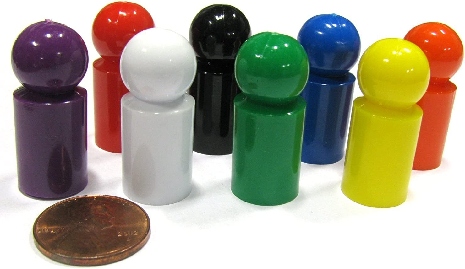 NEW Set of 8 Koplow Ball Pawns 8 Colors Game Playing Pieces