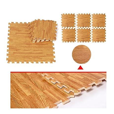 Amazon 18 Sq Ft Eva Wood Grain Cushioned Floor Mat Interlocking