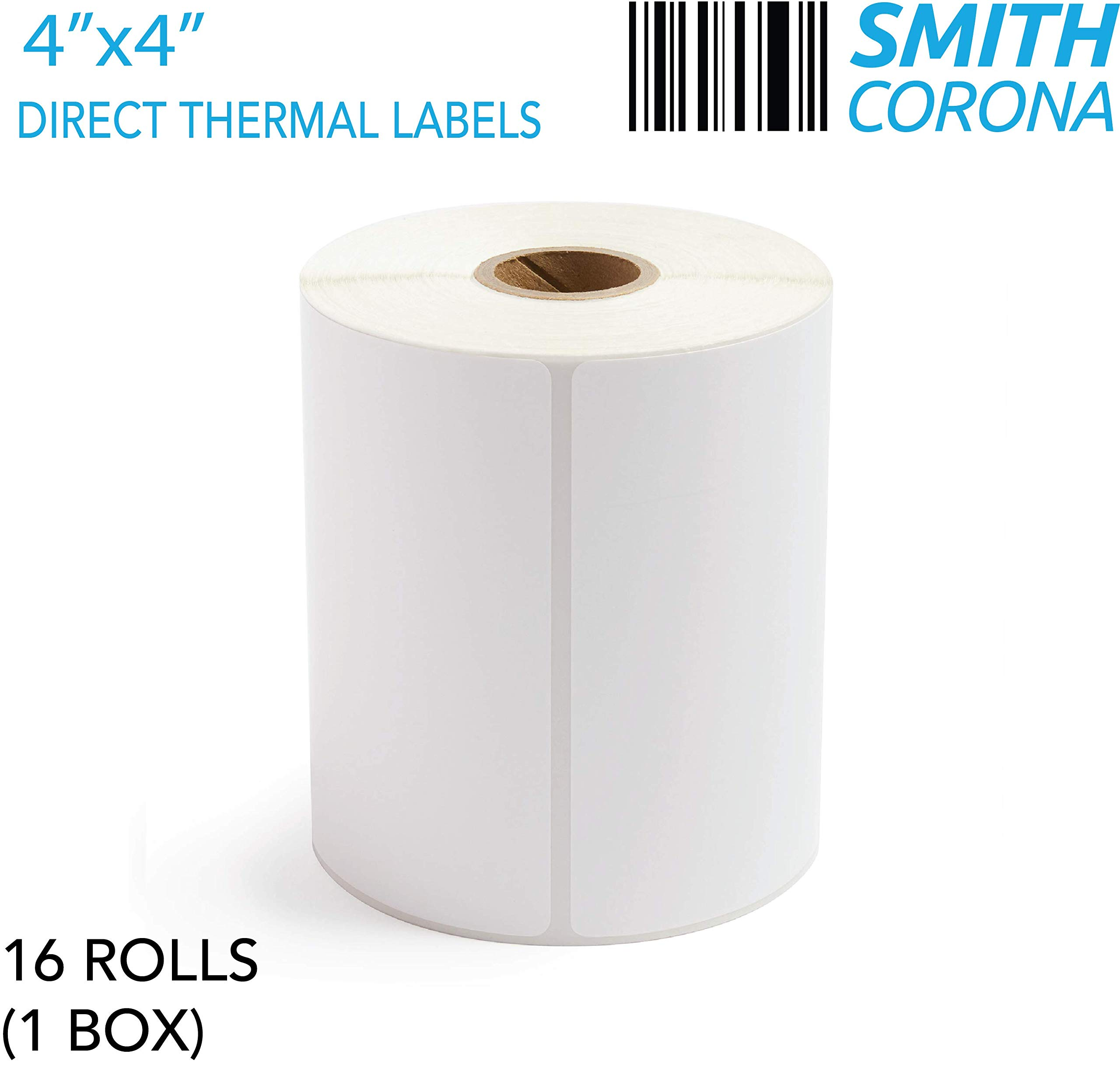 Smith Corona - 4x4 Direct Thermal Labels (1'' Core) - 365 Labels/Roll - 16 Rolls by Smith Corona