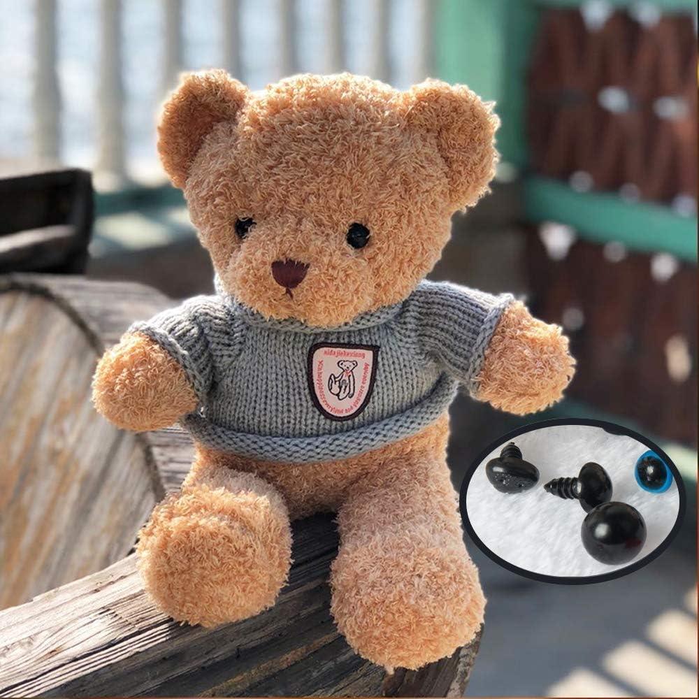 6-14mm farbige Teddyaugen und Sicherheitsnasen Queta 560Stk Puppenaugen und Teddynase Pl/üschtier Sicherheitsaugen mit Unterlegscheibe zur Herstellung von Puppen Teddyb/är