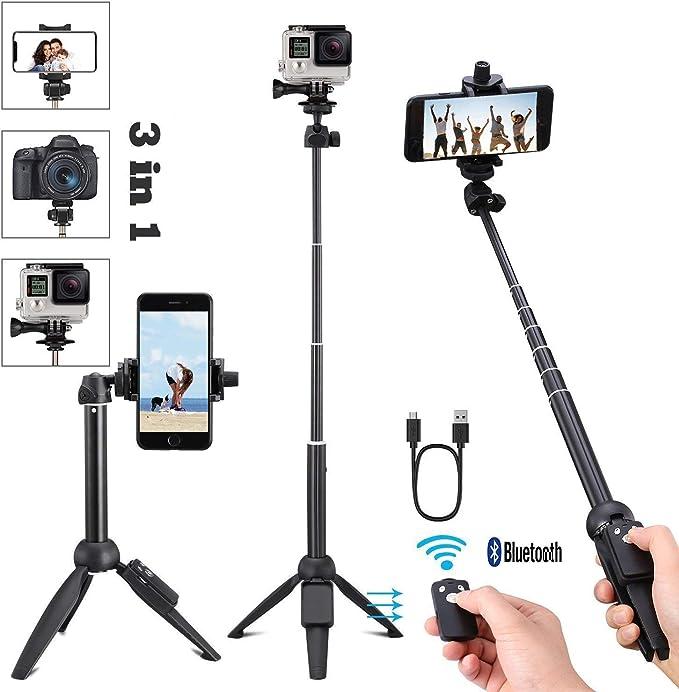 124 opinioni per Bastone Selfie Treppiede Bluetooth Portatile Selfie Stick con Telecomando