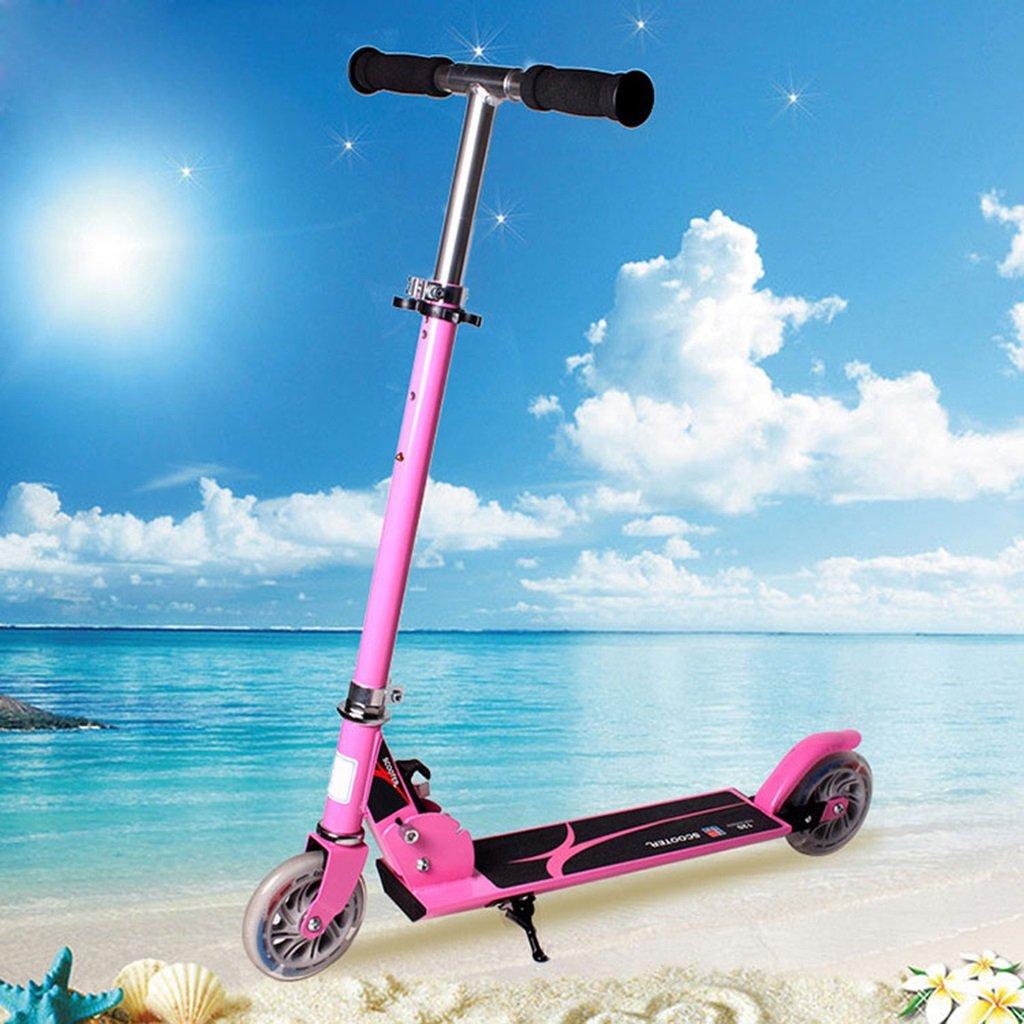 HAIZHEN マウンテンバイク ベビーキャリッジベビーカーアルミ合金二輪車スクーター折り畳み式ウォーカーツイスト車子供用スクーター 新生児 B07DLCC2PSピンク ぴんく