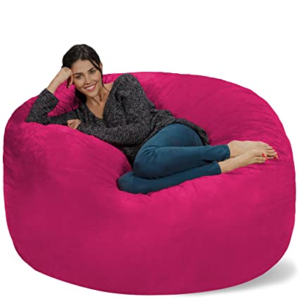 Chill Sack Bean Bag Chair Giant 5u0027 Memory Foam Furniture Bean Bag - Big  sc 1 st  Amazon.com & Amazon.com: Chill Sack Bean Bag Chair: Giant 5u0027 Memory Foam ...