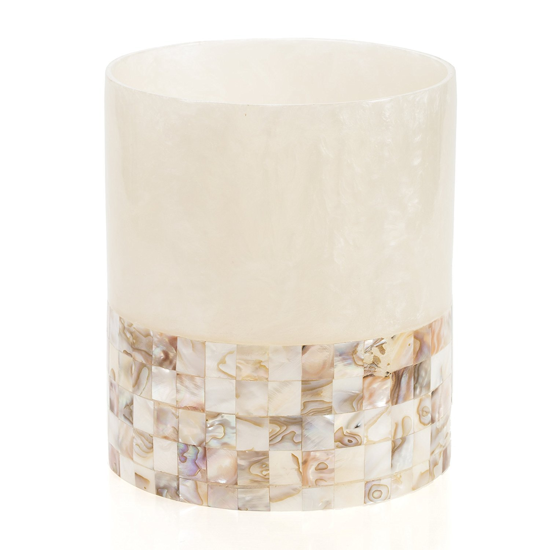 Creative Scents Milano Bathroom Trash Can (8''x 8''x 9.25')- Decorative Wastebasket- Durable Waste Paper Baskets- Space Friendly Bath Rubbish Dust Bin- for Elegant Shower Decor by Creative Scents