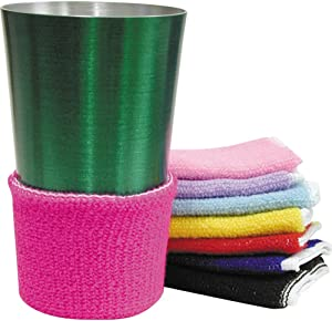 Terry Assorted Colors Beverage Drink Covers Set 8