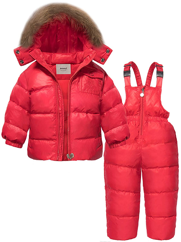 626fa9b0 ZOEREA Chaqueta de esquí para niñas Chaquetas niña Abrigos + Pantalones de  Nieve Invierno Ropa Set 2 Piezas